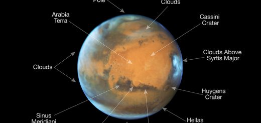 Photo de Mars en plein soleil